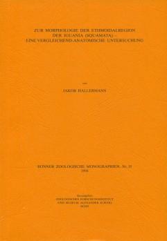 Zur Morphologie der Ethmoidalregion der Iguana - Eine vergleichend-anatomische Untersuchung