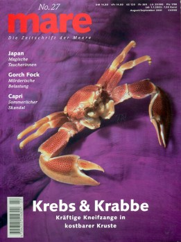 Krebs & Krabbe Kräftige Kneifzange in kostbarer Kruste