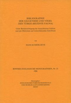 Bibliographie der Säugetiere und Vögel der Türkei (Rezente Fauna)