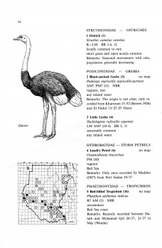 Distribution Atlas of Sudan's birds with notes on habitat and status
