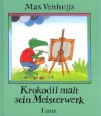 Krokodil malt sein Meisterwerk