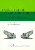 Contributions to a Herpetologia arabica. Proceedings of the Meeting at the Staatliches Museum für Tierkunde Dresden, 21.-23.3. 1997