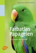 Farbatlas Papageien - 353 Arten im Porträt¸ Stgt. 2009, kt., 384 Seiten, 353 Farbfotos. Dieser kompakte Papageienführer begleitet Sie auf Ausstellungen, beim Besuch von Vogelparks, Zoos und auf Reisen in alle Welt. Er bietet Ihnen übersichtliche Informati